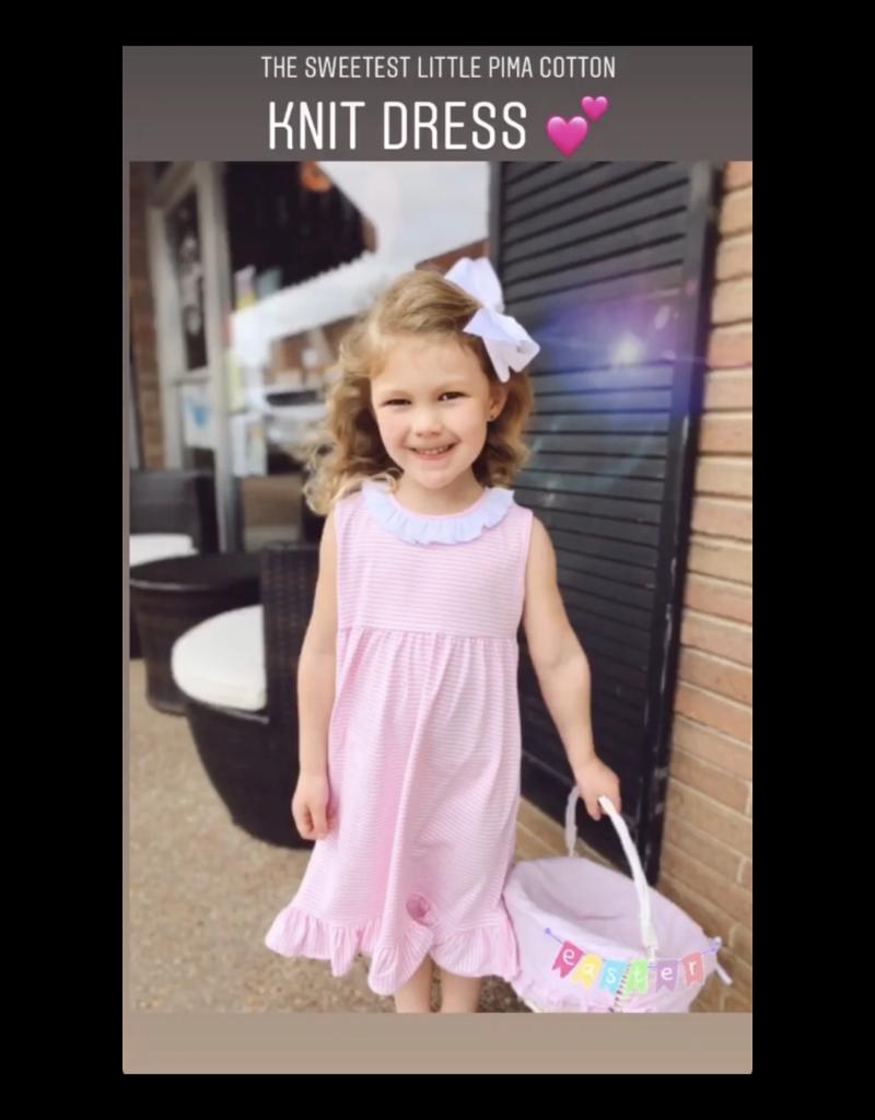 Paty Stripe dress w/Collar