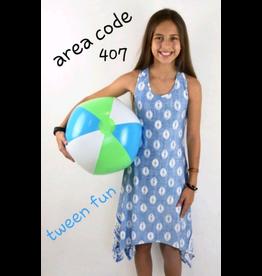 Area Code 407 Blue Sanddollar Dress