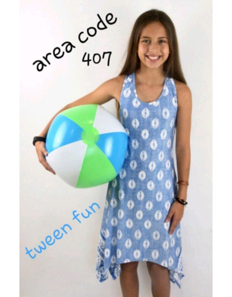 Area Code 407 Blue Sanddollar Dress