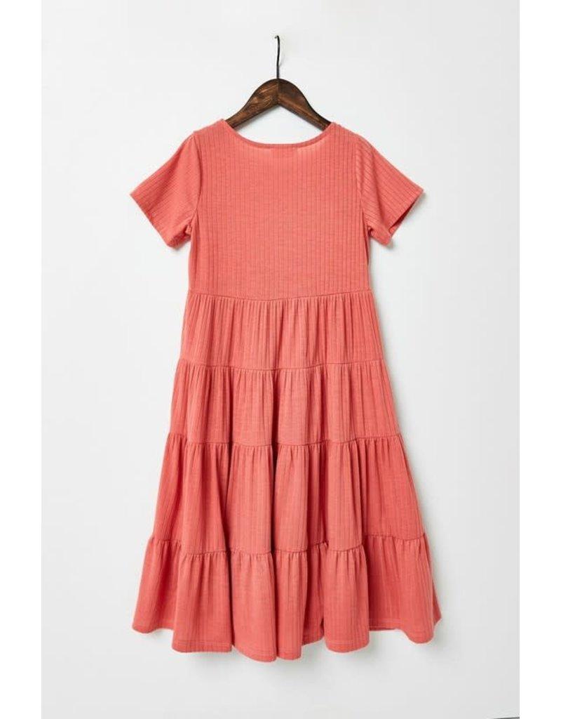 Hayden Los Angeles Ribbed Midi Swing Dress