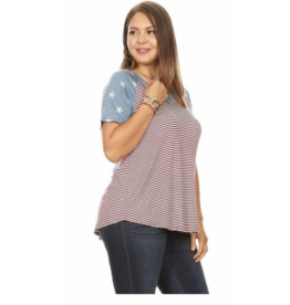Chris & Carol Apparel Stars and Stripes top