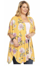 Chris & Carol Apparel Floral Dolman sleeve Cardigan
