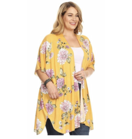 Chris & Carol Apparel Floral Dolman sleeve Cardigan