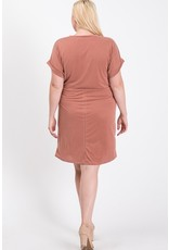 S/S Gathered knot dress
