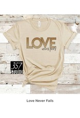 357 Studio Love Never Fails Tee