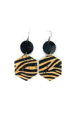 Savvy Bling Tiger Stripe Leather earrings