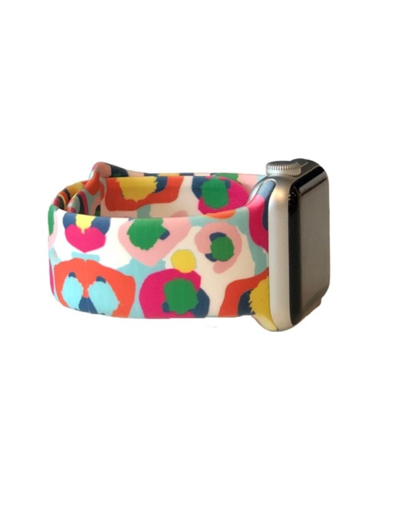 Prissy Plates Gifts & More MultiColor Cheetah Apple Watch Band