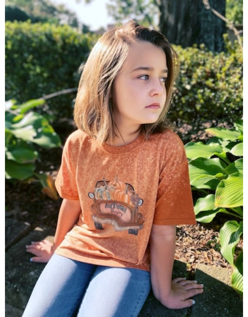 Autumn Blessings Bleached Tee - Youth