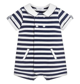 Mayoral USA 1614 Striped Jacquard Romper