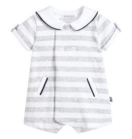 Mayoral USA 1614 Striped Jaquard Romper