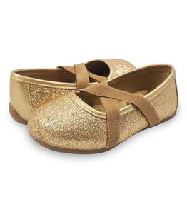 Livie & Luca Aurora Gold Sparkle Shoe