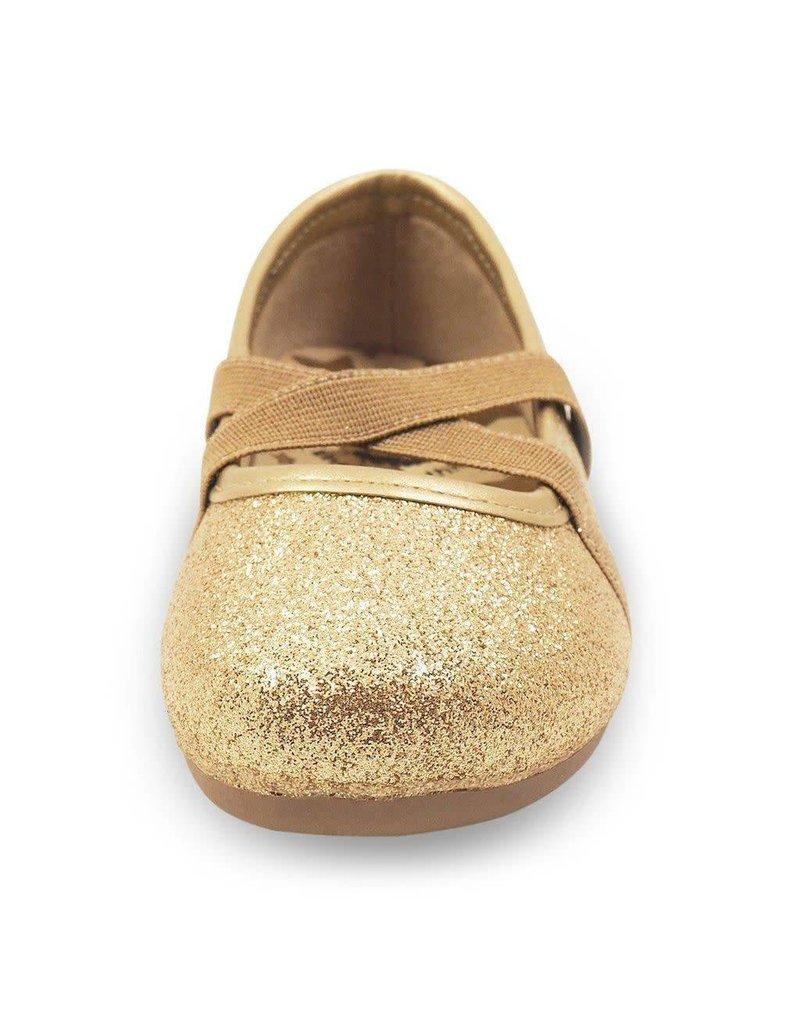 Livie & Luca Aurora Gold Sparkle Shoe