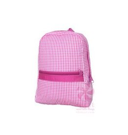 Mint Hot Pink Gingham Backpack