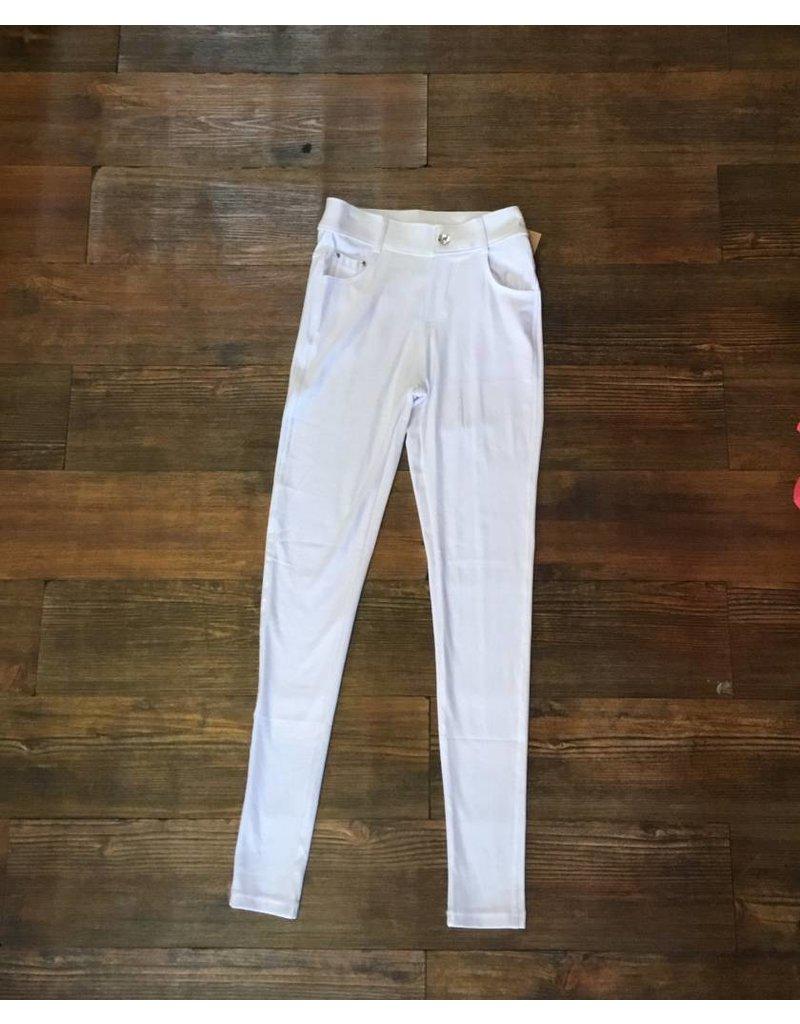 Yelete White Jegging - Pant Length