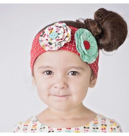 Little Miss Marmalade Go Fly A Kite Red Flowered Headband