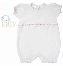 Paty #184 Puff Sleeve Bubble w/lace and ribbon