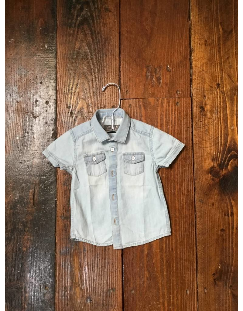 Mayoral 1153 s/s denim shirt