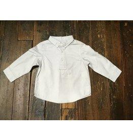 deux par deux Deux par Deux Boys' Shirt with Placket White Aristo Kids