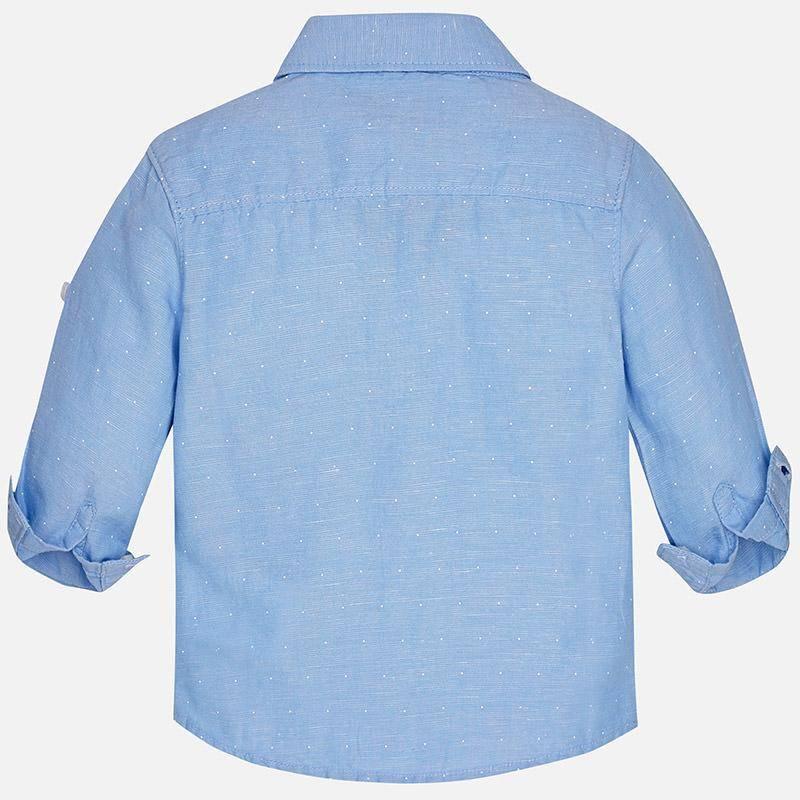 Mayoral 117 Basic linen l/s shirt