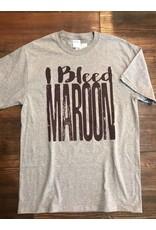 Diamond Diva Designz I Bleed Maroon tee