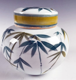 Damian Ross Green Bamboo Jar