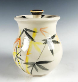 Damian Ross Yellow Bamboo Jar