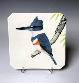 Avian Clay Belted Kingfisher Plate