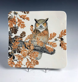 Avian Clay Great Horn Owl Square Footed Plate