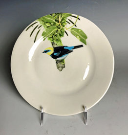 Avian Clay Golden Hooded Tanager Plate