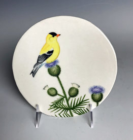 Avian Clay American Goldfinch Plate