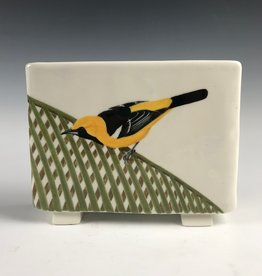 Avian Clay Hooded Oriole Toaster Vase