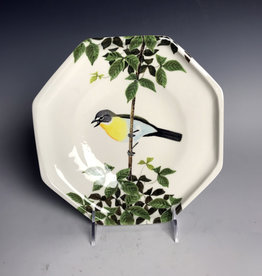 Avian Clay Yellow Breasted Chat Plate