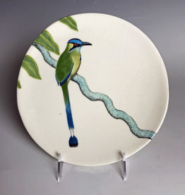 Avian Clay Blue Crowned MotMot Plate