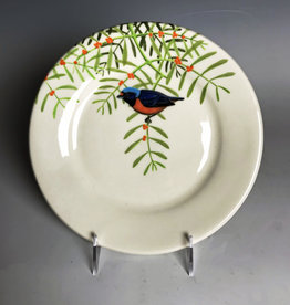 Avian Clay Blue Hooded Euphonia Plate