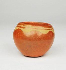 Pueblo Pottery Pueblo, Red Bowl with Lip Design, c. 1960