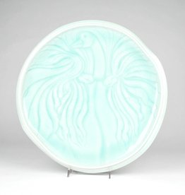 Elaine Coleman Incised Ice White Goose Plate