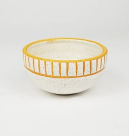 Natan Moss White Stripe Bowl