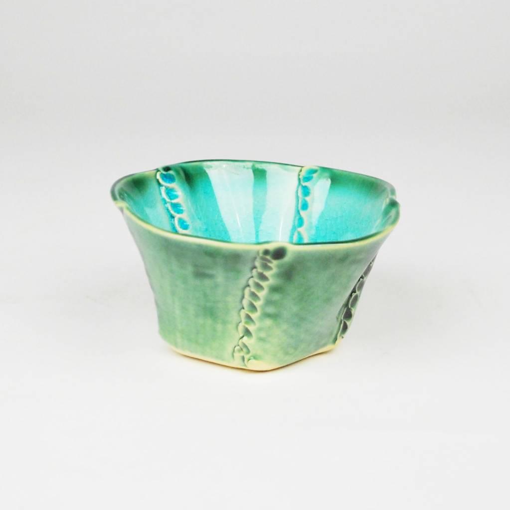 B. Anahita King Bowl, Turquoise Crackle & Green- Large