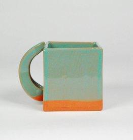 Wayne Perry Turquoise Square Mug