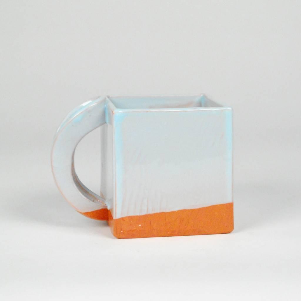 Wayne Perry Sky Blue Square Mug
