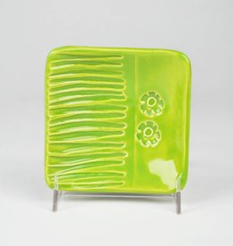 Lynn Wood Medium Green Square Ash Tray