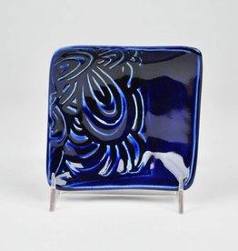 Lynn Wood Medium Blue Square Ash Tray
