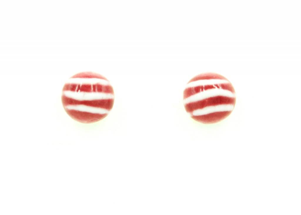 Studio Evans Line Earrings- Burgundy