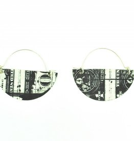 Mimi Logothetis Earrings-Dollar Bill