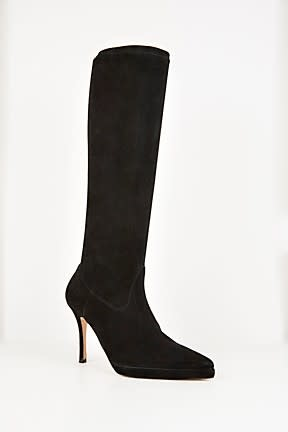 WISH PLATFORM SUEDE BLACK