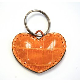 ALLIGATOR HEART KEYCHAIN CAMEL