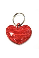 ALLIGATOR HEART KEYCHAIN RED