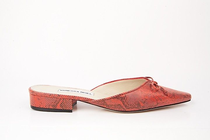 BELL FLAT SUEDE RED