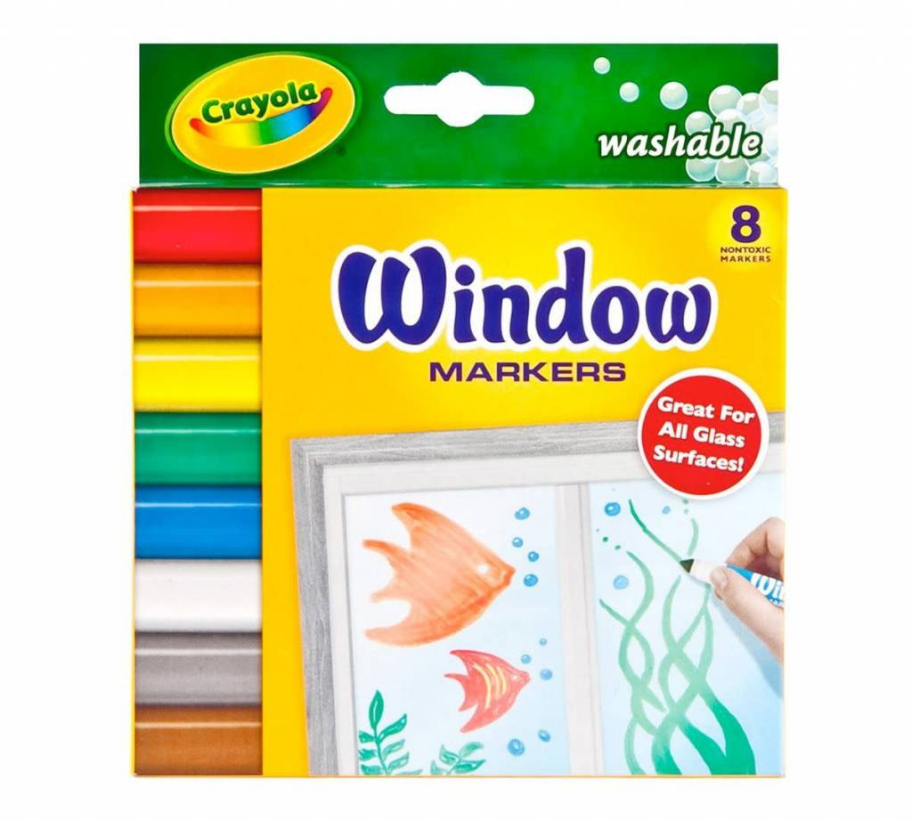 Crayola Washable Window Markers 8 count