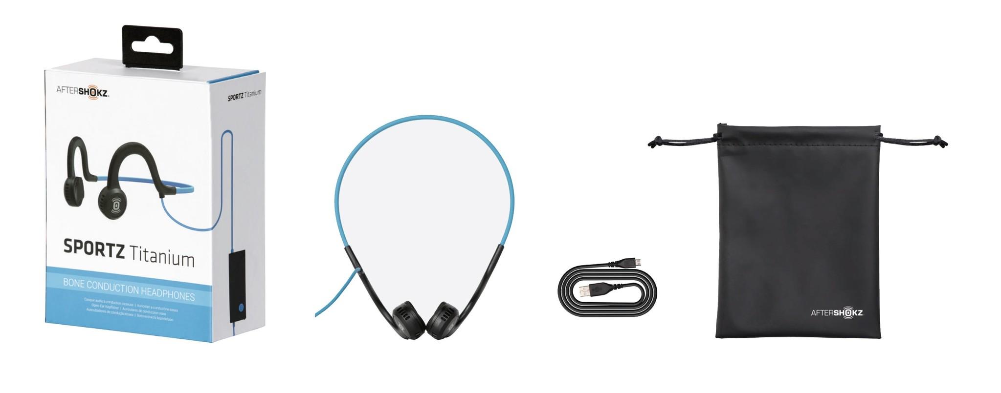 AfterShokz Sportz Titanium Onyx Black Wired Headphones